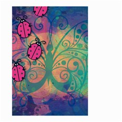 Background Colorful Bugs Small Garden Flag (Two Sides)