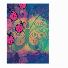 Background Colorful Bugs Large Garden Flag (Two Sides)