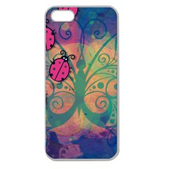 Background Colorful Bugs Apple Seamless iPhone 5 Case (Clear)
