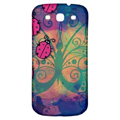Background Colorful Bugs Samsung Galaxy S3 S III Classic Hardshell Back Case