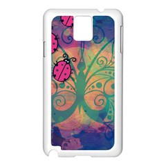 Background Colorful Bugs Samsung Galaxy Note 3 N9005 Case (White)