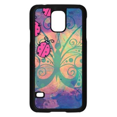 Background Colorful Bugs Samsung Galaxy S5 Case (Black)