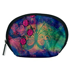 Background Colorful Bugs Accessory Pouches (Medium)