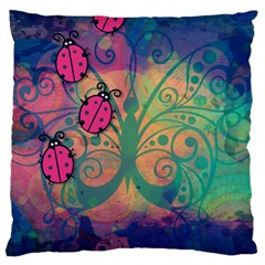 Background Colorful Bugs Standard Flano Cushion Case (One Side)