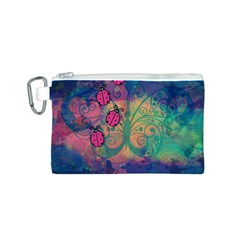 Background Colorful Bugs Canvas Cosmetic Bag (S)