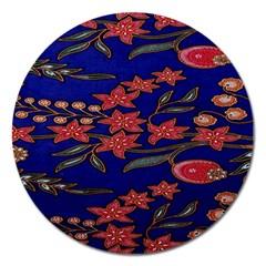 Batik  Fabric Magnet 5  (Round)