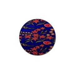 Batik  Fabric Golf Ball Marker (4 pack)