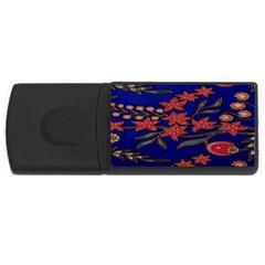 Batik  Fabric USB Flash Drive Rectangular (4 GB)