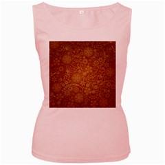 Batik Art Pattern Women s Pink Tank Top
