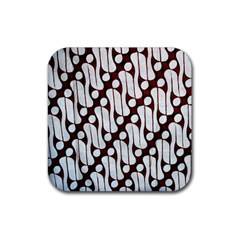 Batik Art Patterns Rubber Square Coaster (4 pack)