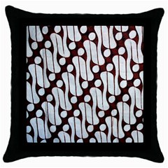 Batik Art Patterns Throw Pillow Case (Black)