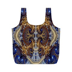 Baroque Fractal Pattern Full Print Recycle Bags (M)