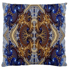 Baroque Fractal Pattern Large Flano Cushion Case (One Side)