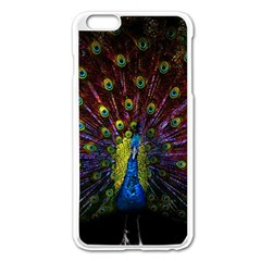 Beautiful Peacock Feather Apple iPhone 6 Plus/6S Plus Enamel White Case