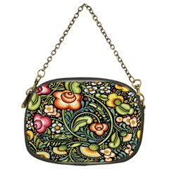 Bohemia Floral Pattern Chain Purses (One Side)