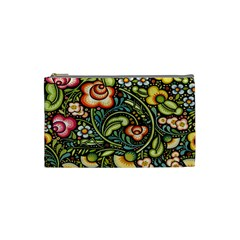 Bohemia Floral Pattern Cosmetic Bag (Small)