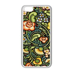 Bohemia Floral Pattern Apple iPhone 5C Seamless Case (White)