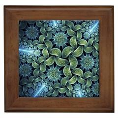 Blue Lotus Framed Tiles