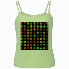 Beetles Insects Bugs Green Spaghetti Tank