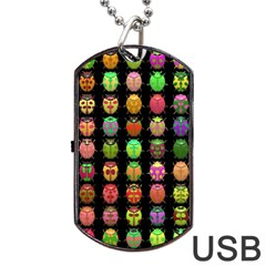 Beetles Insects Bugs Dog Tag USB Flash (One Side)