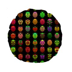 Beetles Insects Bugs Standard 15  Premium Round Cushions
