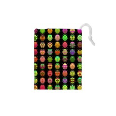 Beetles Insects Bugs Drawstring Pouches (XS)