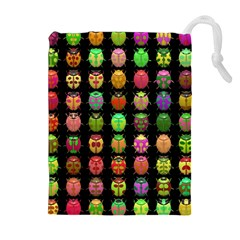 Beetles Insects Bugs Drawstring Pouches (Extra Large)