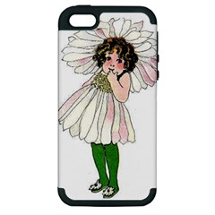 Daisy Vintage Flower Child Cute Funny Floral Little Girl Apple Iphone 5 Hardshell Case (pc+silicone)