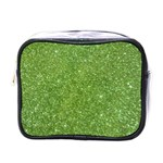 Green Glitter Abstract Texture Mini Toiletries Bags Front