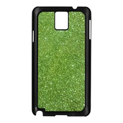 Green Glitter Abstract Texture Samsung Galaxy Note 3 N9005 Case (black)