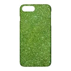 Green Glitter Abstract Texture Apple Iphone 7 Plus Hardshell Case