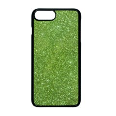 Green Glitter Abstract Texture Apple Iphone 7 Plus Seamless Case (black)