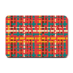 Colorful Line Segments Small Doormat