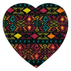 Bohemian Patterns Tribal Jigsaw Puzzle (Heart)