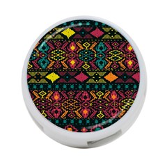 Bohemian Patterns Tribal 4-Port USB Hub (One Side)