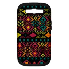 Bohemian Patterns Tribal Samsung Galaxy S III Hardshell Case (PC+Silicone)
