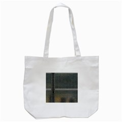 Building Pattern Tote Bag (White)