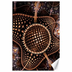 Brown Fractal Balls And Circles Canvas 12  x 18