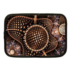 Brown Fractal Balls And Circles Netbook Case (Medium)
