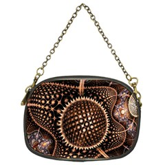 Brown Fractal Balls And Circles Chain Purses (One Side)