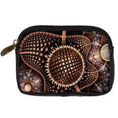 Brown Fractal Balls And Circles Digital Camera Cases