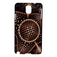 Brown Fractal Balls And Circles Samsung Galaxy Note 3 N9005 Hardshell Case