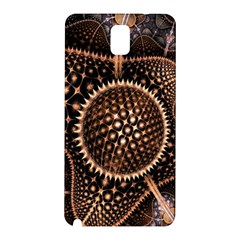 Brown Fractal Balls And Circles Samsung Galaxy Note 3 N9005 Hardshell Back Case