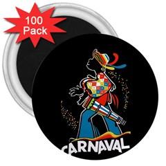 Carnaval  3  Magnets (100 pack)