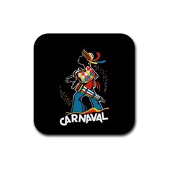 Carnaval  Rubber Square Coaster (4 pack)