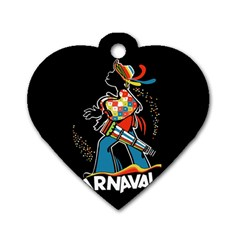 Carnaval  Dog Tag Heart (Two Sides)