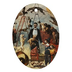 Dog circus Ornament (Oval)