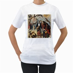 Dog circus Women s T-Shirt (White) (Two Sided)