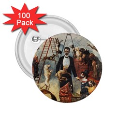 Dog circus 2.25  Buttons (100 pack)