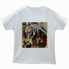 Dog circus Kids White T-Shirts